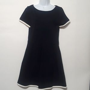 J.crew navy blue short sleeve dress